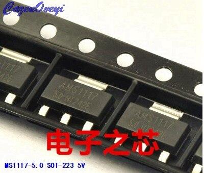 50pcs/lot AMS1117-5.0 LM1117 SOT-223 5V Linear Regulator In Stock