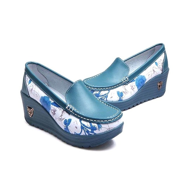 Bombas das mulheres Sapatos de Cunhas Para Mulher Senhoras 7 CORES FashionWedge Massagem Respirável Feminino Sapatos de Plataforma Bombas das Mulheres