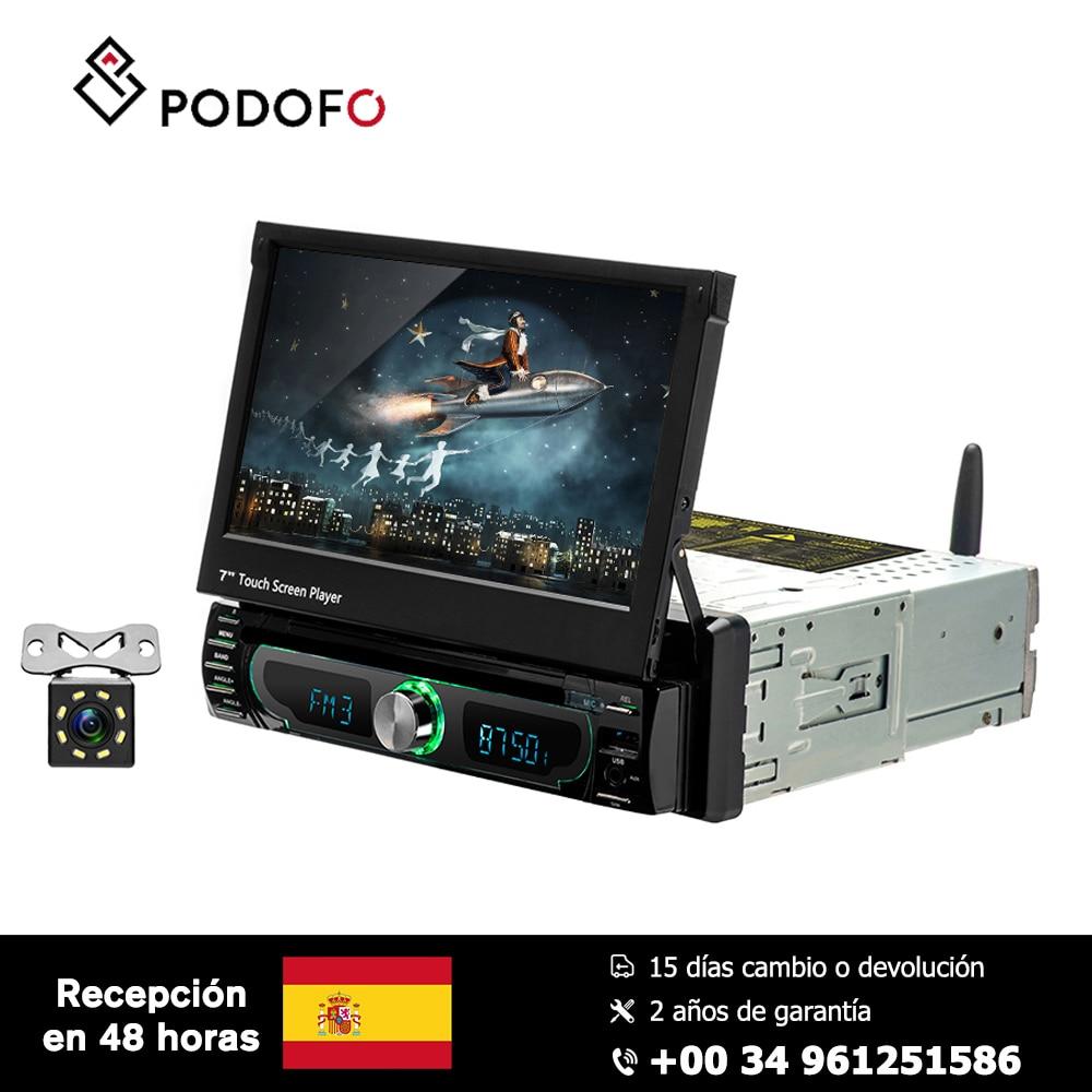 Podofo 1 din Android 8.0 autoradio lecteur multimédia autoradio universel lecteur DVD de voiture GPS Navigation FM AM USB