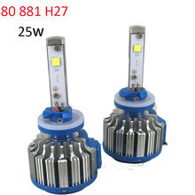 H27 880 881 LED Auto Headlights Bulb Conversion Kit for 12V Car Driving Fog Lights External Lights with CREE LED Chip