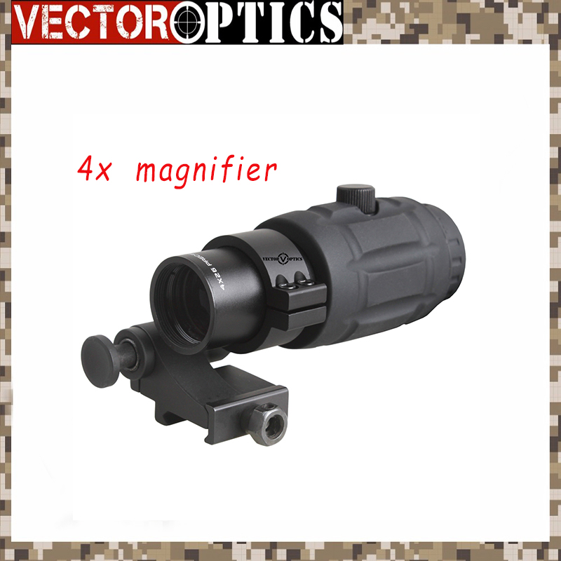 Vector Optics Tactical 4x Magnifier for Red Dot Scope with Flip To Side Mount 4x magnifier fts flip to side for eotech aimpoint or similar scopes sights with lens cover