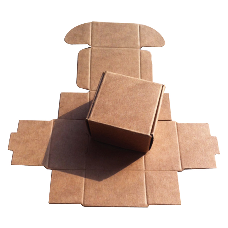 4x4x2 5cm Kraft Paper Boxes For Jewelry Brown Blank Box