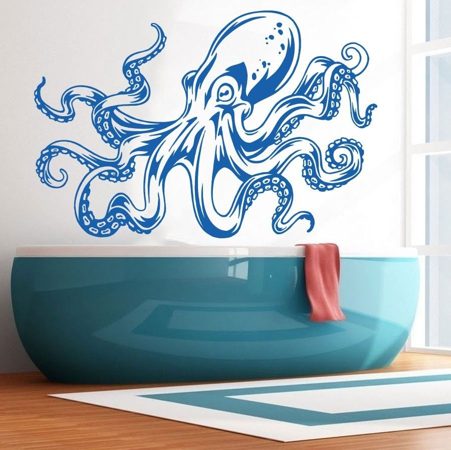 Charmant Sea Ocean Animal Octopus Tentacles Wall Decal Art Decor Sticker Vinyl Mural  Barthroom Wall Sricker Glass Wall Paper ES 42 In Wall Stickers From Home ...