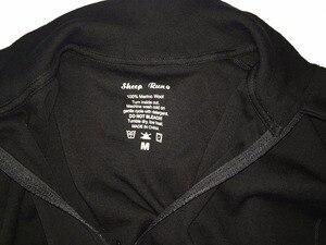 Image 5 - Người đàn ông New Nhãn Hiệu 100% Tinh Khiết Fine Merino Len Người Đàn Ông Giữa trọng lượng 1/4 Zip Ra cửa Cơ Sở Hai Lớp Ấm Áp Nhiệt Dài tay áo Quần Áo Áo Sơ Mi Tops