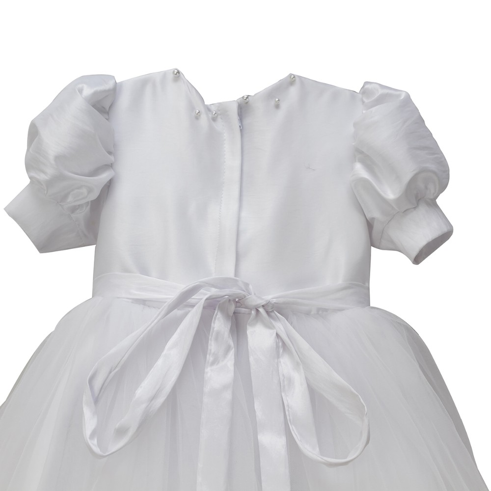 BBWOWLIN White Newborn Girl Long Christening Gowns 1 Year Girl Baby ...