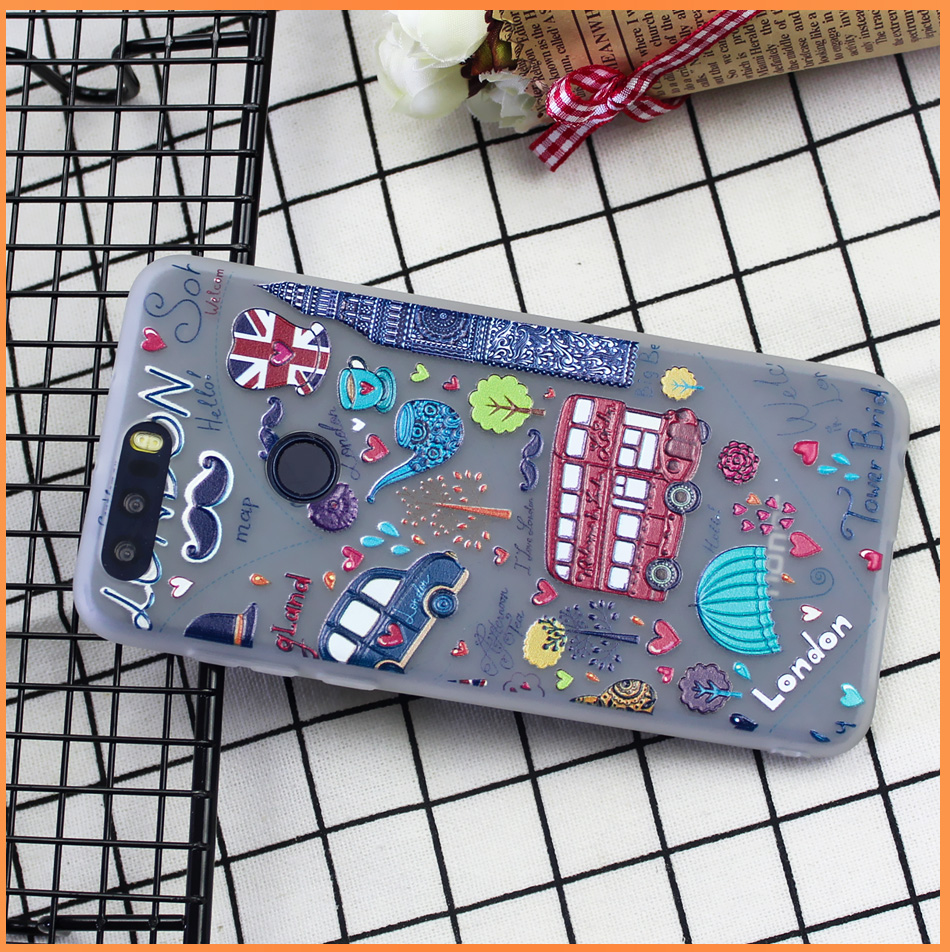 !ACCEZZ Soft Funny Cartoon Protective Back Cover Case For Huawei P9 Mate 89 Honor 78 Case Bumper TPU Painting Shell Funda Capa (15)