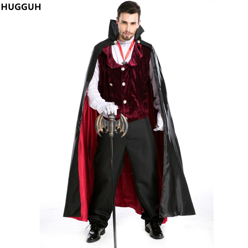 hugguh brand new male clothes cosplay costume halloween role play vampire king dracula costume mens clothing - Halloween Dracula Costumes
