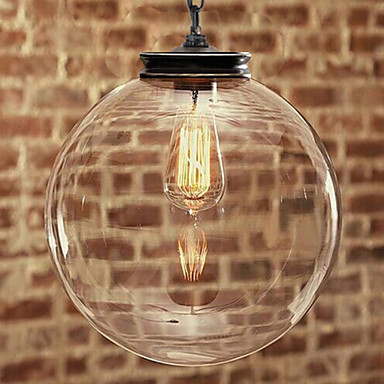 2015 Nature inspired Contemporary Pendant with Transparent Globe Glass Shade ...