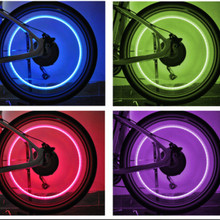 New LED Bicycle Lights Wheel Tire Valve Caps Bike Accessories Cycling Lantern Spokes Lamp Color Blue Green Red Multicolor