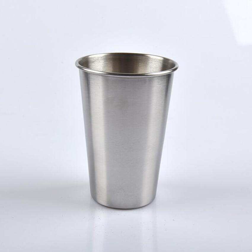 420ML Stainless Steel Mugs Tumbler Pint Glasses Metal Cups Outdoor Camping Travel Mugs Drinking Coffee Tea Beer