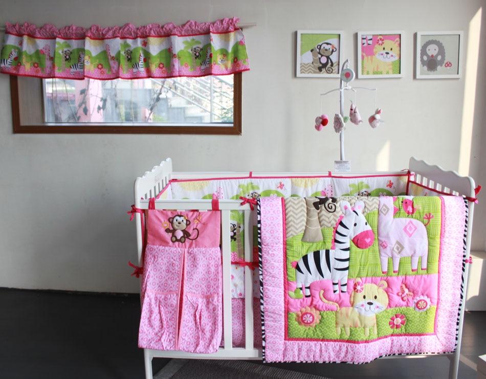 Newborn Baby Six Piece Baby Cot Kindergarten Bedding Set Cartoon