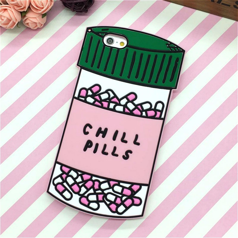 HTB1Eo.FNFXXXXcBXFXXq6xXFXXXn - Fashion 3D Sweet Love Polion Chill Pills Rubber Soft Cute Back Cover for Apple iPhone 6 6s 4.7'' Funny Silicone Phone Case Shell PTC 232