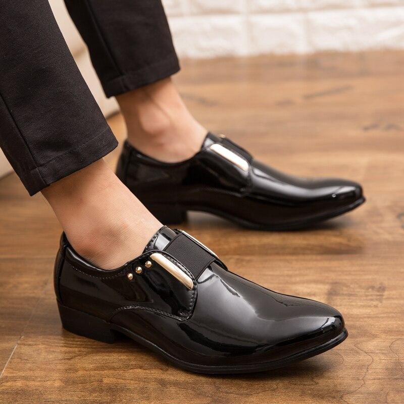 f53ad57b Buty Urządamp; Człowiek On Sukienka Rozmiar But Mężczyzn Czarny Party Black  Dla Klasyczny Nowych 2019 Plus Wedding Moda Slip Męska Formalnych ...
