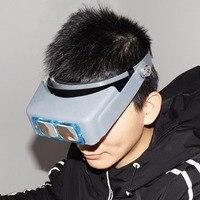 판매 머리띠 조절 형 돋보기 4 광학 유리 렌즈
