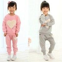 Free Shiping 2014 Baby Girls Summer Sets Cotton Hello Kitty Girl S Clothing Set Denim Kids