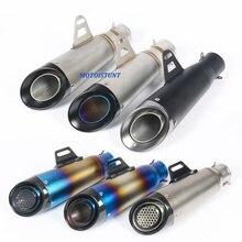 51mm 61mm אוניברסלי אופנוע עמעם פליטה שונה עם S C לייזר סימון סיבי פחמן + נירוסטה עבור S1000RR r6 Z250