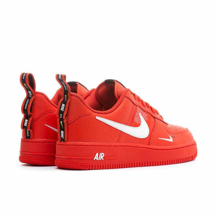 ナイキエアフォース 1 AF1 男性のスケートボードの靴高輝度赤脱構築簡易版レジャー時間スポーツスニーカー # AJ7747-800
