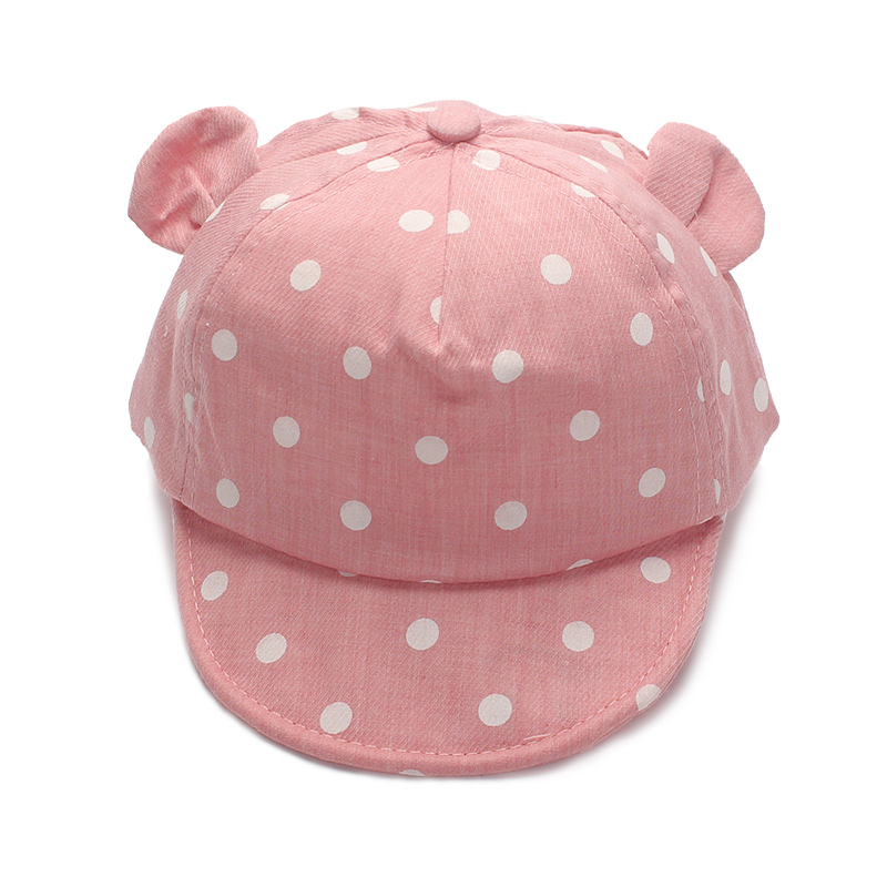 Dot Baby Caps New Girl Boys Cap Summer Hats For Boy Infant Sun Hat With Ear 2017 Sunscreen Baby Girl Hat Spring Baby Accessories (2)