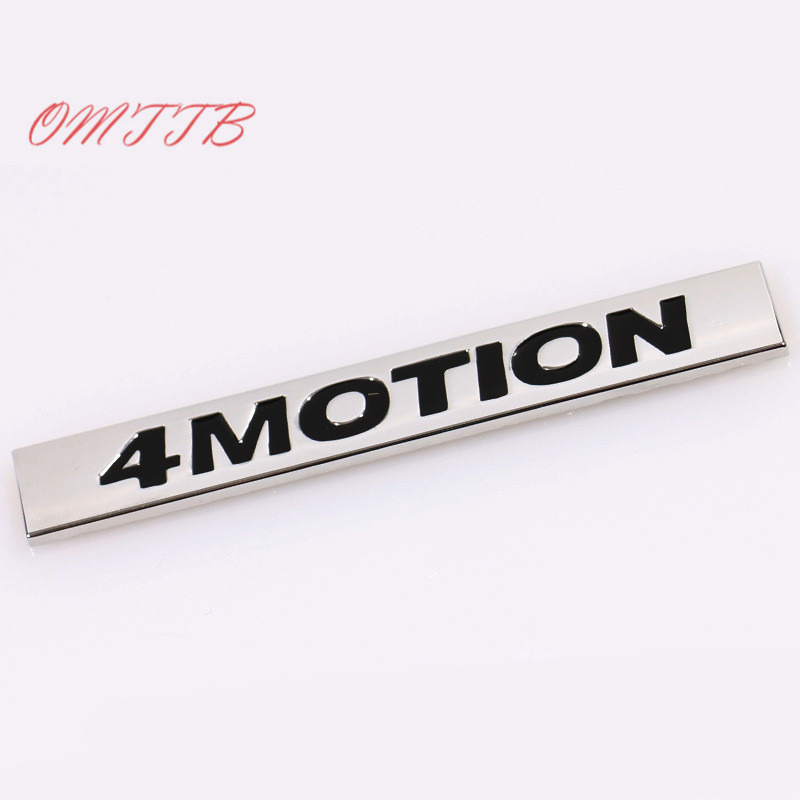 4MOTION Emblem Badge Auto Side Decal Car Sticker For Volkswagen vw Golf 3 4 5 6 7 Polo Tiguan Jetta Passat CC car Styling image