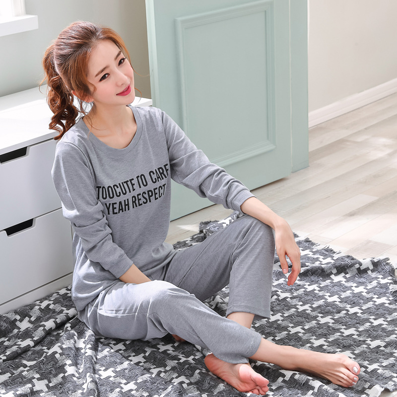 Home Clothes Women Pyjamas Two Piece 2019 New Pijama Plus Size Cotton   Pajama     Set   Female Sleepwear Kawaii Night Suit Nightwear