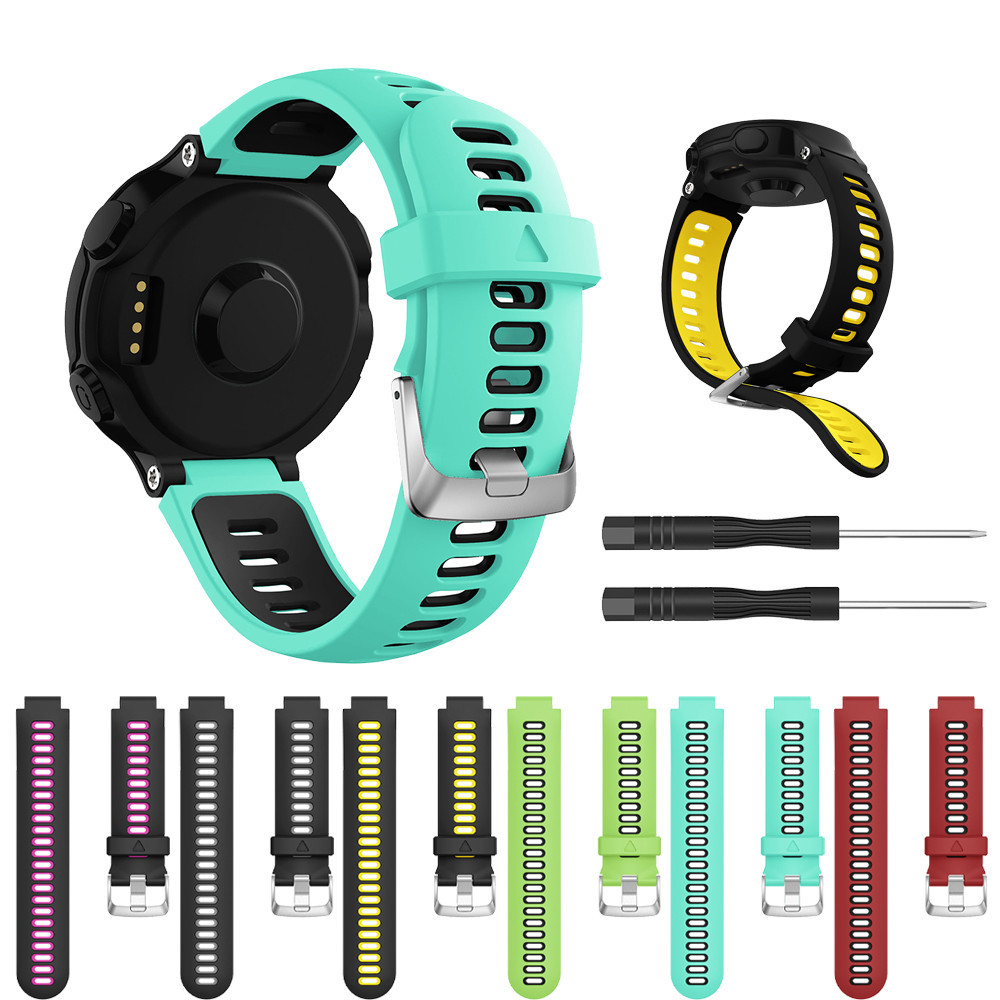 Sport Watch Band For Garmin Forerunner 735XT Watch Strap Soft Silicone Replacement Wrist Strap Watch Band Drop Shipping L1029#2