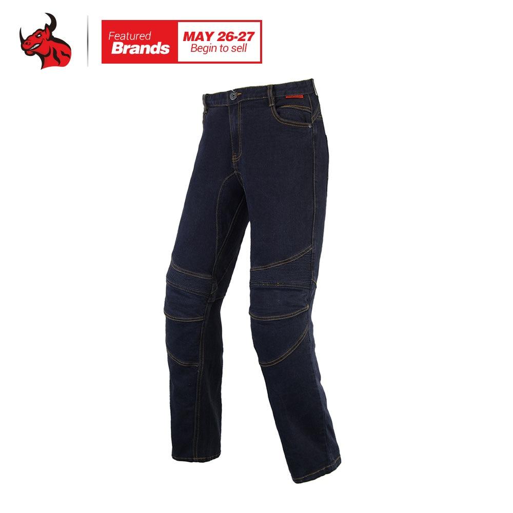 BENKIA Motorcycle Racing Jeans Men's Motorbike Motocross Off-Road Knee Protective Moto Jeans Trousers Black Men Jeans Jeans Moto