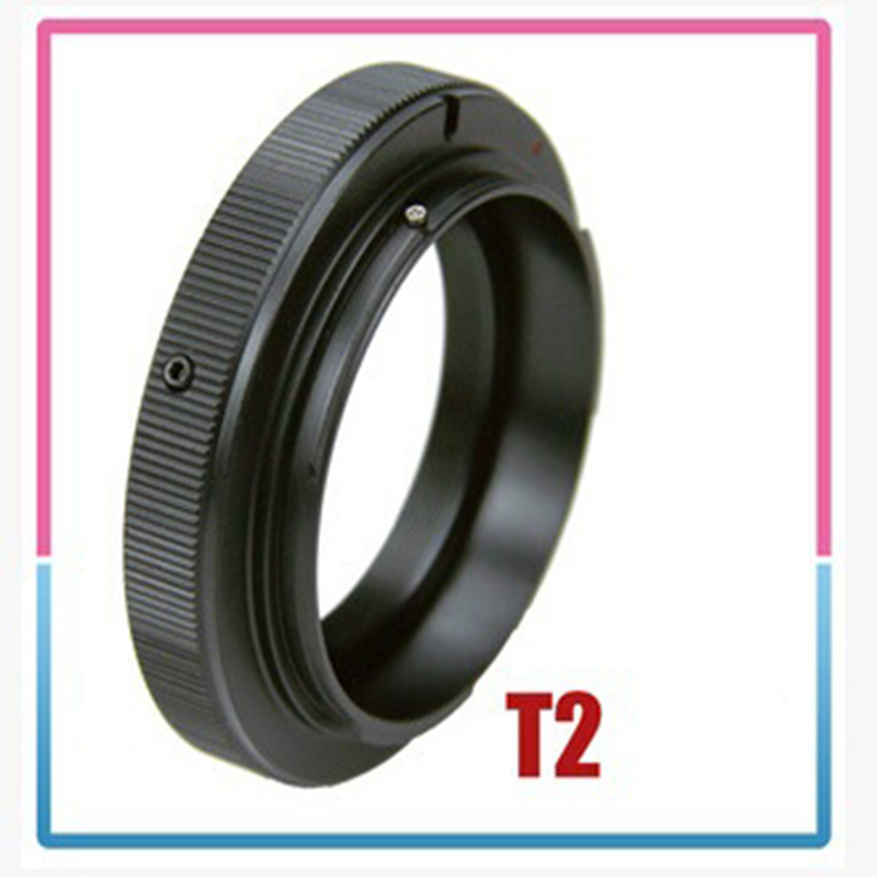 T2 T Mount To For Canon EOS T2-EOS Ring Lens Adapter 5D 7D 50D 60D 550D 500D 600D 700D 1000D 1200D T5i T4i T3i T2i T1i Free Ship