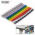 10x10 Colorido Juego De Gestión de Cable Marcadores de cables cable de Red de Alta calidad Marca de identificación Signos etiqueta etiquetas empate