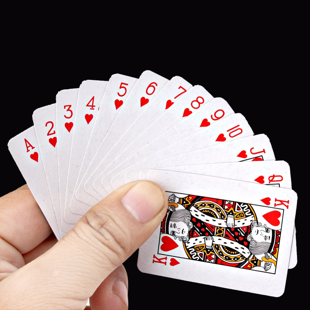 5.3*3.8CM Mini Poker Set Interesting Playing Card Portable Board Game Outdoor Travel Pokers