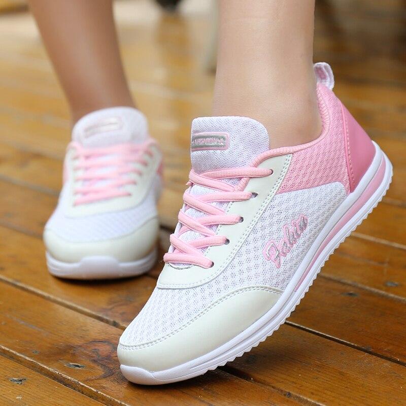Dropshipping Women Shoes Summer White Sneakers Basket Femme Super Light Vulcanized Shoes Female Mesh Sneakers Women Casual Shoe 2