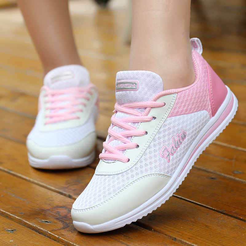 Dropshipping Women Shoes Summer White Sneakers Basket Femme Super Light Vulcanized Shoes Female Mesh Sneakers Women