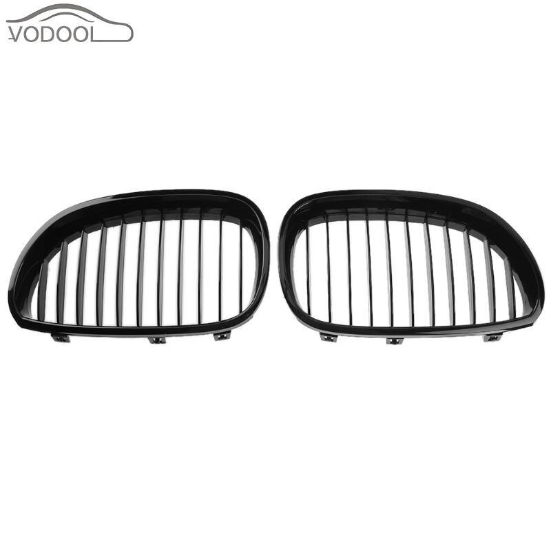 1 Pair Gloss Black Car Front Kidney Grilles Racing Grills for BMW 5 Series E60 E61 04-09 520d 520i 523li Auto Accessories Parts стоимость