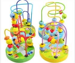 Kinder spielzeug baby puppe kinder Pädagogisches spielzeug perlen string von perlen spiel Mini perlen um tier chassis Viele stile durch gelegentliches