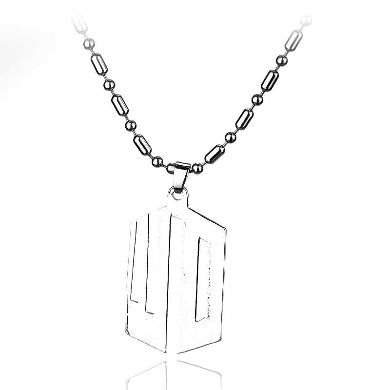 MQCHUN Jewelry Movie Doctor Who Necklace Hollow-out Stainless Steel Pendant Necklace Beaded Chain Jewelry Gift For Women Men