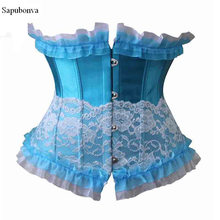f4a58c35e Sapubonva corset underbust lace sexy bustier style tops party ladies corset  costumes burlesque cupless exotic victorian