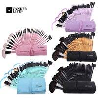 2015 Professional 32 Pcs Makeup Brushes Set Tools Make Up Toiletry Kit Wood Techniques Powder Make