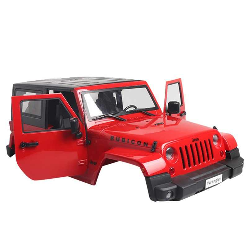 1:10 Rc Auto Carrosserie Jeep Wrangler Rubicon Voor 1/10 Rc Crawler Auto Axiale SCX10 270 Mm Wielbasis Motorkap intake Grille Deel