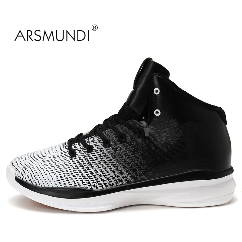 ARSMUNDI Original New Men Basketball Shoes For Men Sport Sneakers Anti Skid Athletic Breathable Comfortable Fast Free Shipping new hot sale children shoes comfortable breathable sneakers for boys anti skid sport running shoes wear resistant free shipping