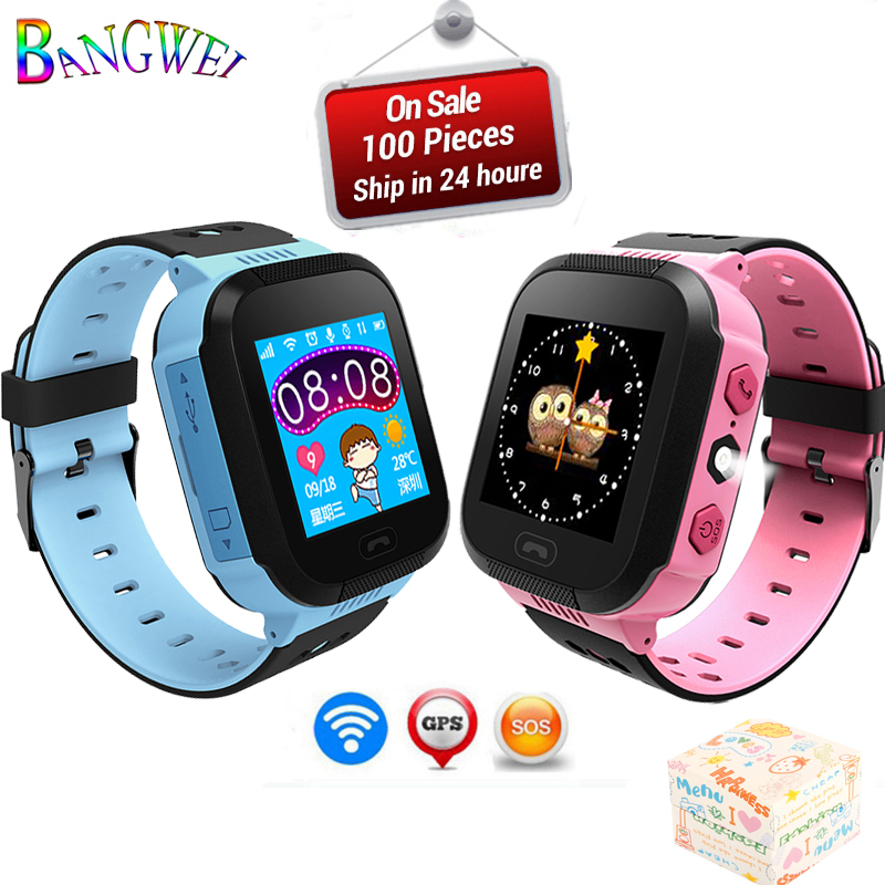 BANGWEI Waterproof GPS Smart Watch Kids Watches Clock SOS Call Location Device Tracker Children Safe Anti-Lost Remote Monitor