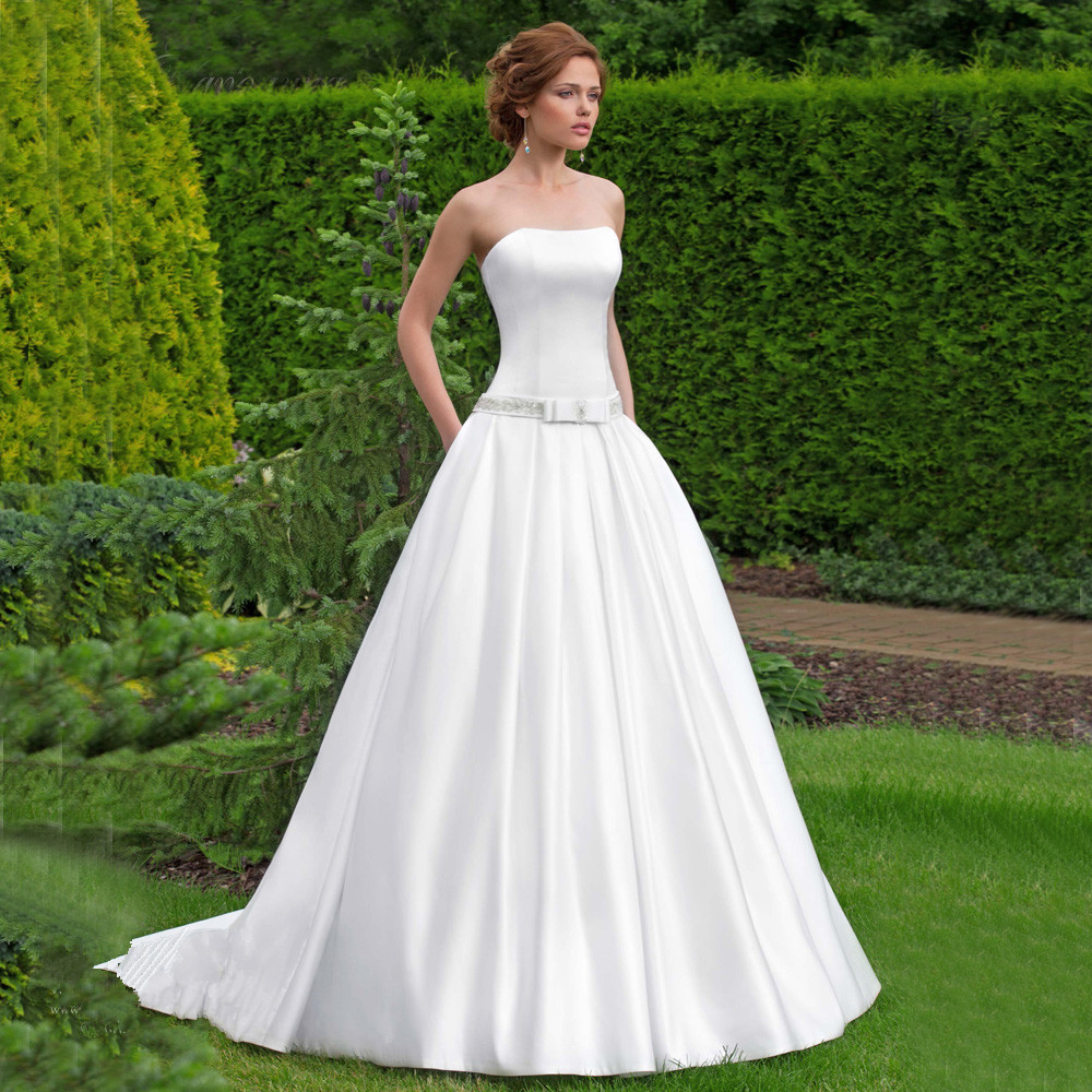 Online Buy Wholesale simple strapless wedding gowns from China ...