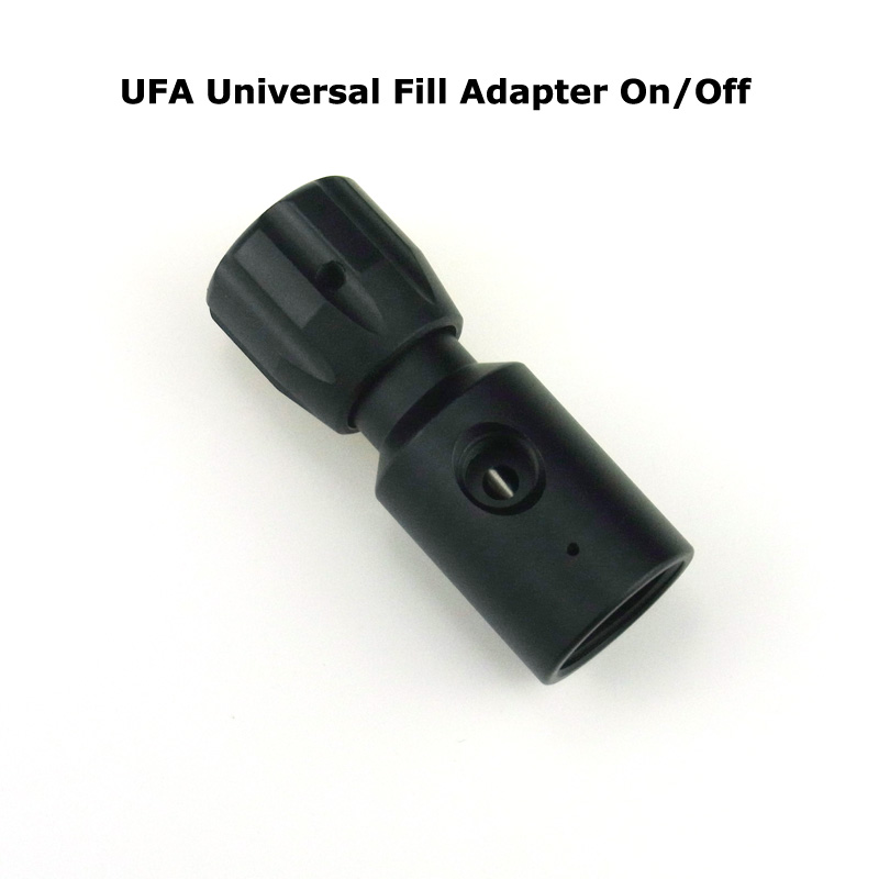 New Paintball Air Gun Airsoft PCP Coil Remote Hose UFA Universal Fill Adapter CO2 Adapter On/Off ASA Paintball Accessory-BLACK