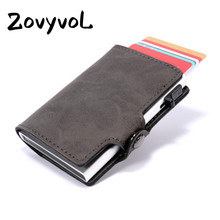 2019 New Arrival PU Leather Card Wallets RFID Blocking Credit Holder Vintage Protector Single Box ID Holders  wallet card