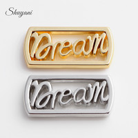 SHUYANI 20pcs Lot Alloy Floating Locket Charms Letter Plates Charms Fit 30MM Living Memory Locket
