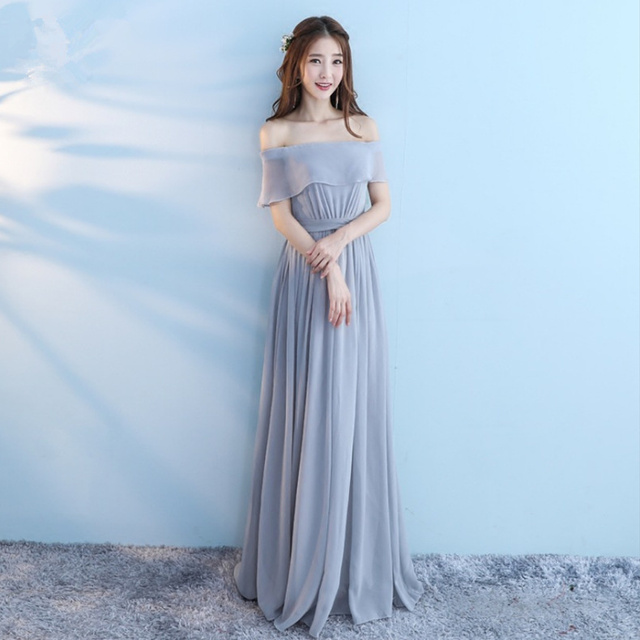 bc35c29a1bb5 lace maxi dress long dresses summer 2018 korean style women chiffon dress  beautiful elegant clothes boho bohemian off shoulder