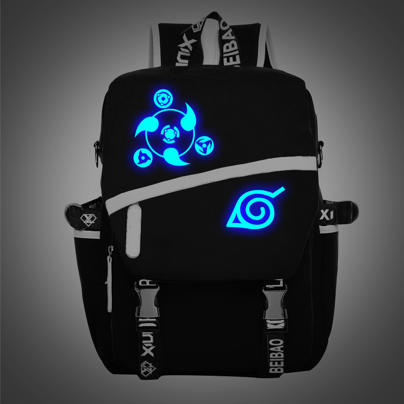 цены Free Shipping New Noctilucent Naruto Backpack Boy Girl Hokage Ninjia School Bags For Teenagers  Japanese Anime Canvas Backpacks