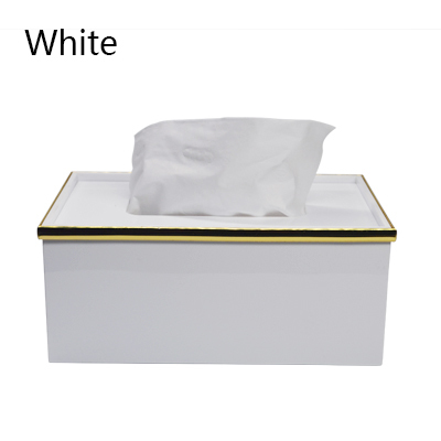 Простая прямоугольная акриловая коробка для салфеток для офиса отеля KTV настольная бумажная коробка для хранения полотенец декоративная коробка - Цвет: E