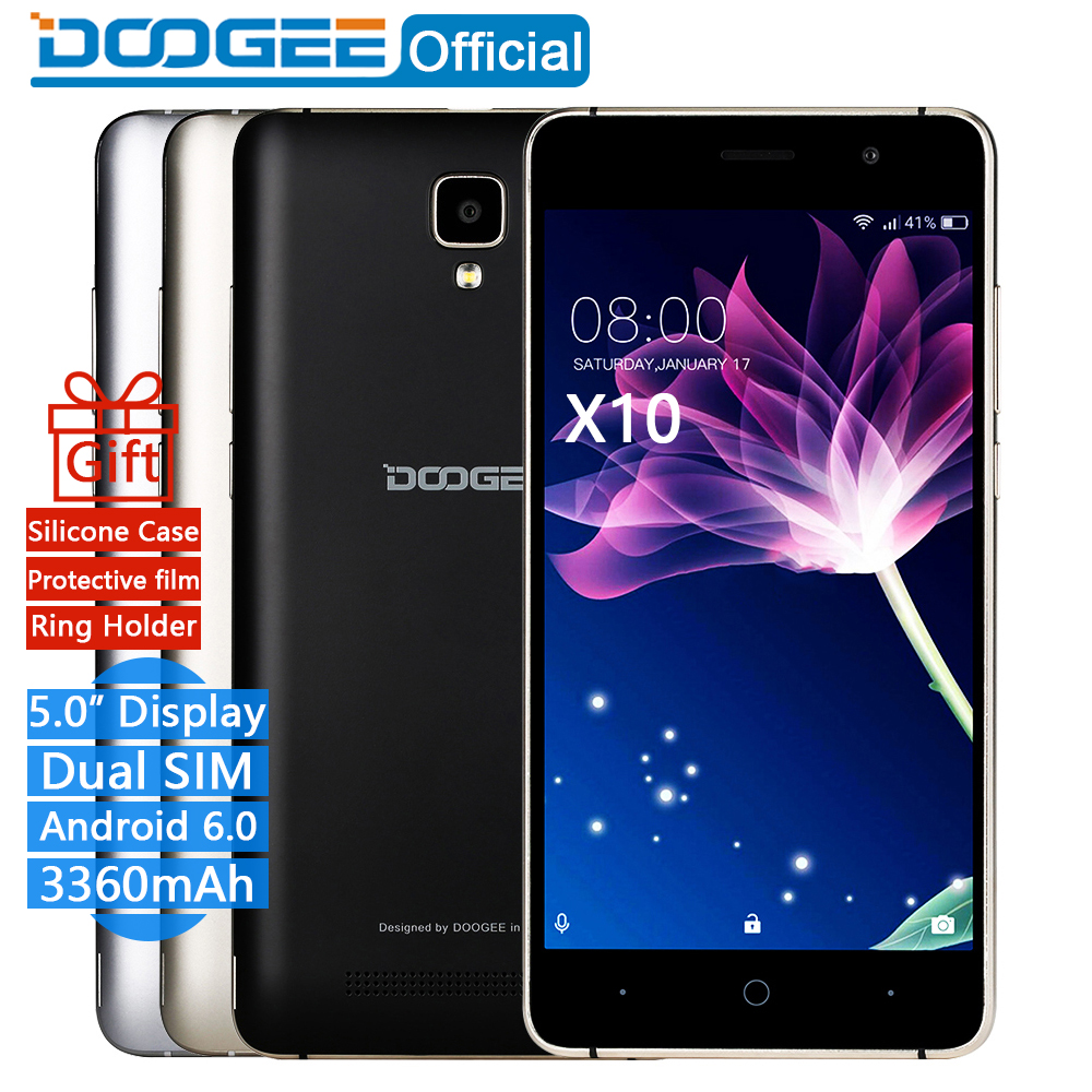 In Stock Now DOOGEE X10 mobile phones 5 0Inch IPS 8GB Android6 0 smart phone Dual