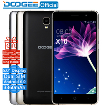 In Stock Now DOOGEE X10 smart phones 5.0 Inch IPS 8GB Android6.0 mobile phone Dual SIM MTK6570 5.0 MP 3360 mAH WCDMA GSM mobile phone