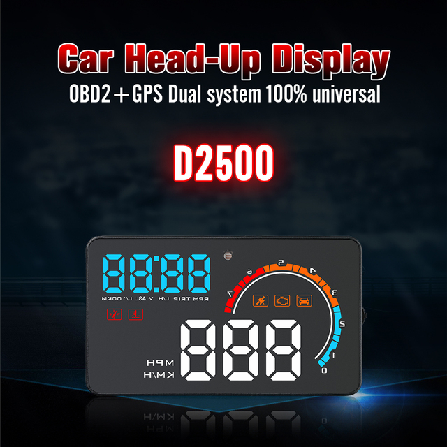 "4""Universal Car HUB OBD2/GPS Head Up Display Car Speed Projector Vehicle Windshield Navigation OBD Speedometer Hud D2500"