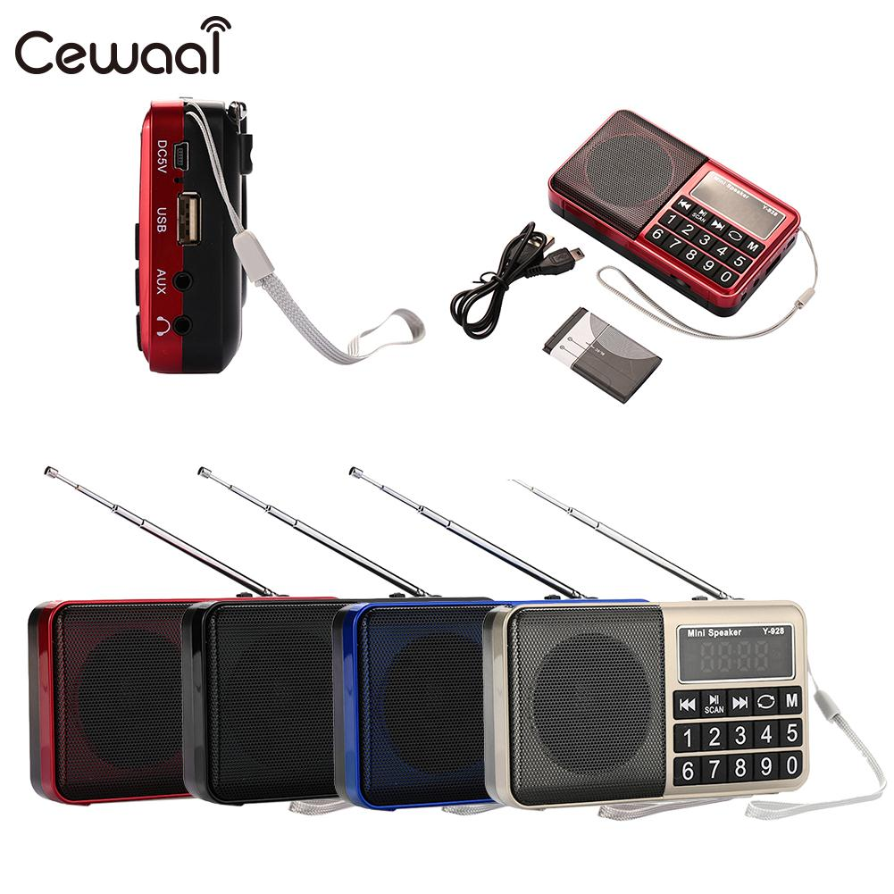 Ordentlich Y-928sw Mini Digitale Am Radio Empfänger Teleskop Antenne Mit Usb/aux/tf Slot Tragbares Audio & Video